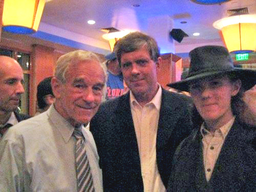 GOP Ron Paul with Don Black