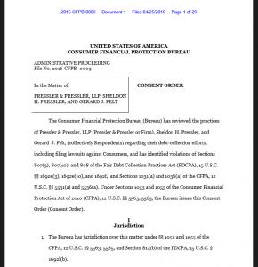 it took 20-years, but Pressler & Pressler finally got its ass handed to them https://files.consumerfinance.gov/f/documents/201604_cfpb_consent-order-pressler-pressler-llp-sheldon-h-pressler-and-gerard-j-felt.pdf