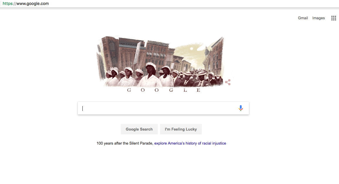 The Silent Parade featured by Google.com on 28 July 2017