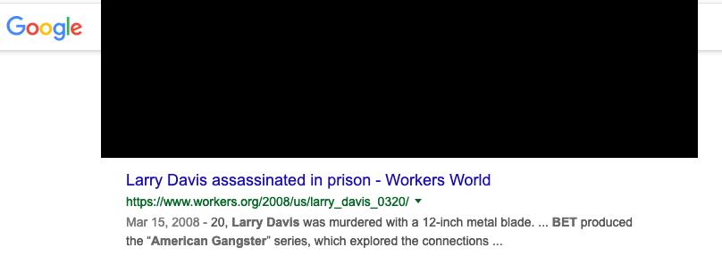 Workers.org false narrative about Larry Davis